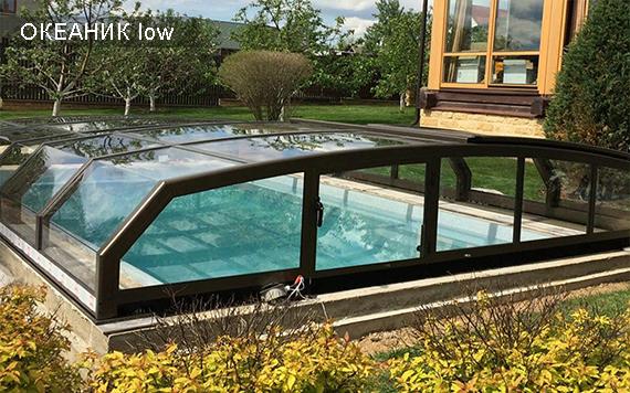 павильон для бассейна низкий