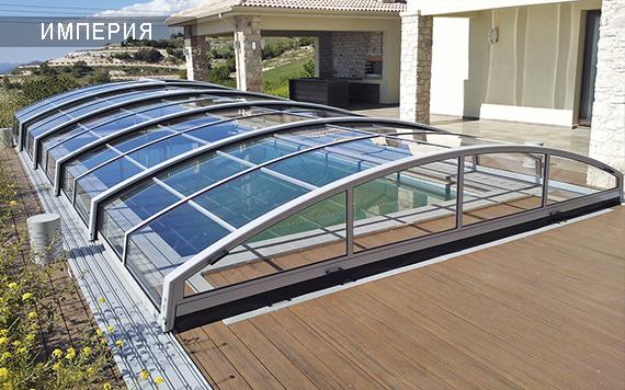 низкий павильон для бассейна