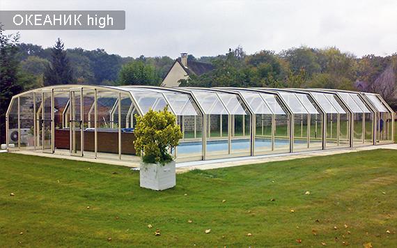 павильоны для бассейнов высокие