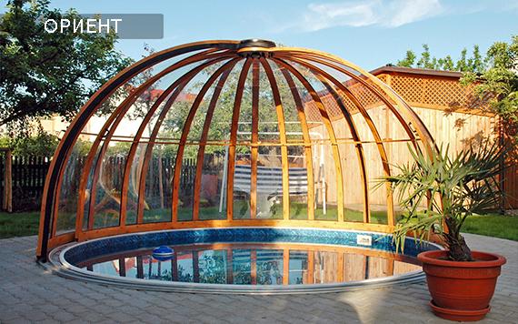 круглый павильон для бассейнов