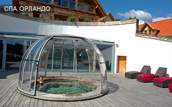 павильон для бассейна круглый